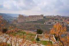 Cruzado do castelo de Kerak em Jordan Asia imagens de stock