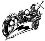 Cruzado do velomotor ilustração stock