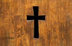 Cruzado firme adentro la madera Imágenes de archivo libres de regalías