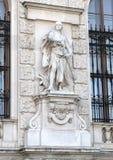 Cruzado por Viktor Tilgner, pelo Burg de Neue ou pelo New Castle, Viena, Áustria fotografia de stock royalty free