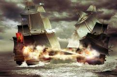 Cruzador de batalha Imagens de Stock Royalty Free