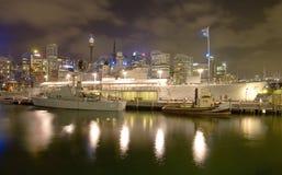 Cruzador de batalha de HMAS imagem de stock