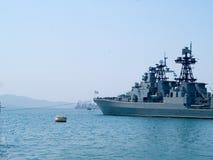Cruzador de batalha do russo Fotografia de Stock