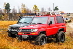 Cruzador Prado 70 da terra de Toyota Fotos de Stock Royalty Free