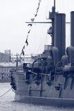 Cruzador velho preto e branco foto de stock royalty free