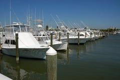Cruzadores de cabine no porto Imagem de Stock