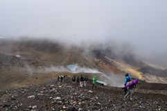 Cruzamento alpino de Tongariro imagem de stock royalty free