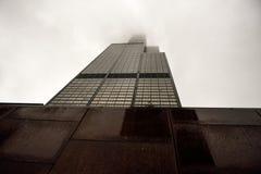 Cruzamento América, Chicago, uma cidade fechada na névoa foto de stock