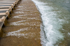 Cruzamento da maré baixa Fotografia de Stock