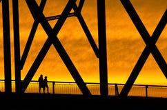 Cruzamento da ponte Fotos de Stock Royalty Free