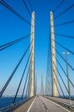 Cruzamento da ponte de Oresund Escandinávia, Europa Fotos de Stock Royalty Free