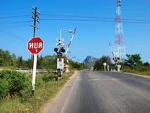 Cruzamento de estrada de ferro Fotos de Stock