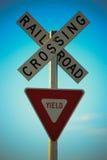 Cruzamento de estrada de ferro Foto de Stock Royalty Free