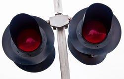 Cruzamento de estrada de ferro aéreo Fotos de Stock