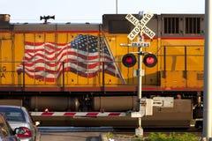 Cruzamento de estrada de ferro americano foto de stock royalty free