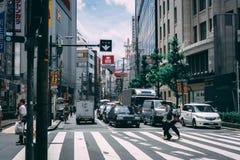 Cruzamento de estradas de Japão imagens de stock