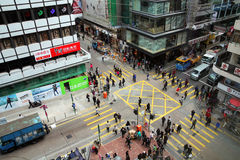 Cruzamento de Hong Kong Imagem de Stock