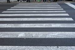 Cruzamento de pedestre Fotos de Stock