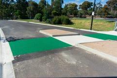 Cruzamento de pedestre verde Imagens de Stock