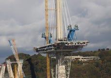 Cruzamento de Queensferry sob a construção Fotos de Stock Royalty Free