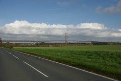 Cruzamento de rio Kingston Upon Hull da ponte de Humber fotografia de stock
