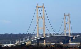 Cruzamento de rio Kingston Upon Hull da ponte de Humber fotos de stock royalty free