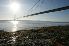 Cruzamento de rio Kingston Upon Hull da ponte de Humber imagens de stock