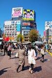 Cruzamento de Shibuya no Tóquio, Japão imagem de stock royalty free