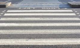 Cruzamento de zebra Fotografia de Stock Royalty Free