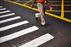 Cruzamento de zebra Imagem de Stock Royalty Free