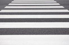 Cruzamento de zebra da rua vazia Imagens de Stock