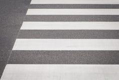 Cruzamento de zebra da rua vazia Fotografia de Stock