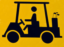 Cruzamento do carro de golfe Imagens de Stock