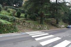 Cruzamento e escadas em um parque Imagem de Stock