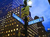 Cruzamento entre lexington e a rua 42 do leste em New York Fotografia de Stock Royalty Free