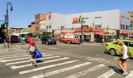 Cruzamento no centro de Greenpoint Imagens de Stock