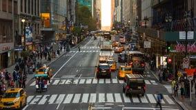 Cruzamento ocupado, Manhattan Lapso de tempo video estoque