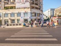 Cruzamento pedestre Imagens de Stock