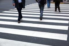 Cruzamento pedestre Imagem de Stock