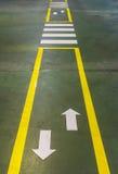 Cruzamento pedestre da zebra Fotografia de Stock