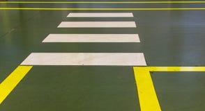 Cruzamento pedestre da zebra Fotos de Stock Royalty Free