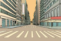 Cruzamento pedestre na cidade grande ilustração do vetor