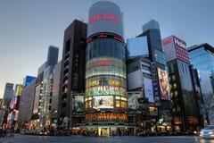 Cruzamento yon-chome de Ginza, Tokyo, Japão Imagem de Stock Royalty Free