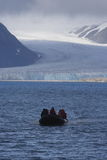 Cruzando as geleiras Fotos de Stock