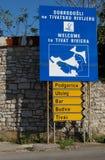 Cruzando la bahía de Kotor (Boka) Foto de archivo libre de regalías
