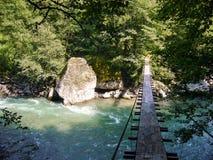Cruzando o rio Fotografia de Stock