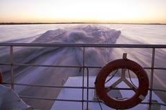Cruzando o Rio de la Plata. imagem de stock