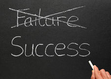 Cruzando para fora a falha e a escrita do sucesso. Imagem de Stock Royalty Free