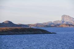 Cruzar el círculo ártico fotos de archivo