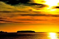 Cruzar el South Pacific Foto de archivo